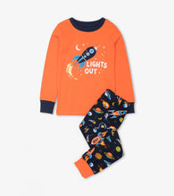 Retro Rockets Organic Cotton Applique Pajamas | Hatley