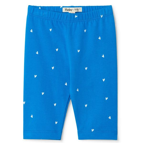 Blue Tiny Hearts Capri Baby Leggings | Hatley