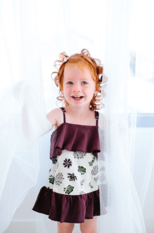 Succulents Lovedbaby Organic Summer Dress - Nature Baby Outfitter