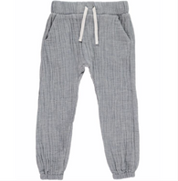 Blue Gauze Jogging Pants | Me & Henry