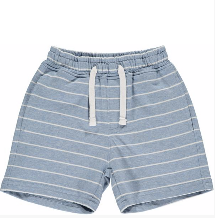 Blue/White Stripe Jersey Shorts | Me & Henry