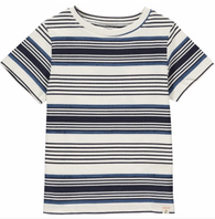 Blue Multi Stripe Tee | Me & Henry