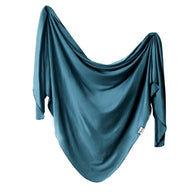 Steel Large Premium Knit Swaddle Blanket | Copper Pearl