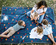 Midnight Poppy Indoor and Outdoor Blanket | Little Unicorn
