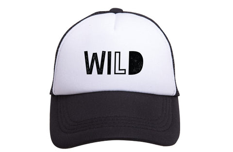 WILD Tiny Trucker Hat | Black - Nature Baby Outfitter