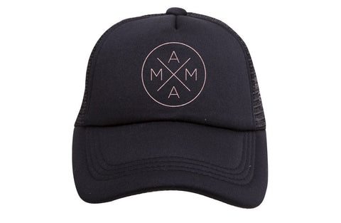 Rose Gold Glitter Mama X Hat | Black - Nature Baby Outfitter