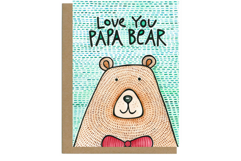 Love You Papa Bear Father's Day Card | Glass Half Full Studio