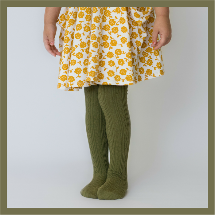 Olive Tights | Little Stocking Co.