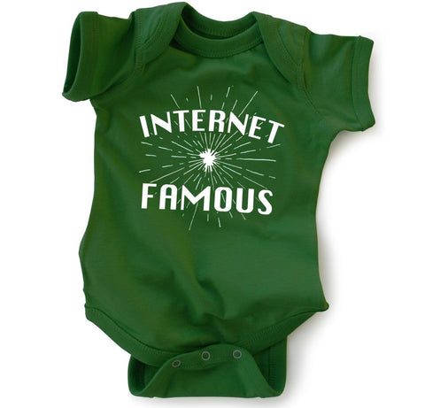 """Internet Famous"" Kelly Green Bodysuit 