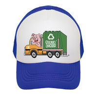 Royal Blue Garbage Truck Trucker Hat | JP DOoDLES