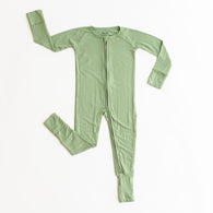 Sage Convertible Bamboo Romper/Sleeper | Little Sleepies