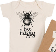 'Bee Happy' Organic Bodysuit | Morado Designs