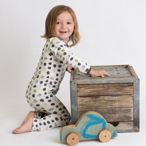 Green & Black Circle Coverall | Bestaroo - Nature Baby Outfitter