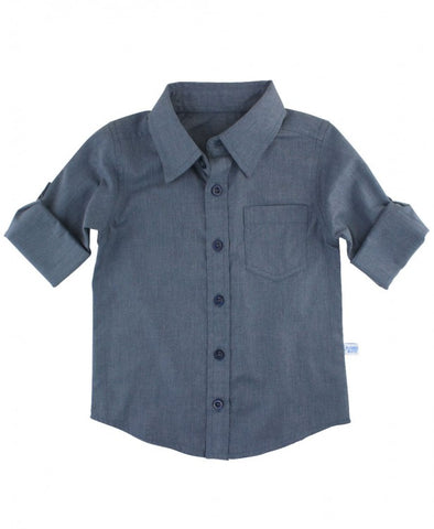 Indigo Button Down Shirt | Rugged Butts