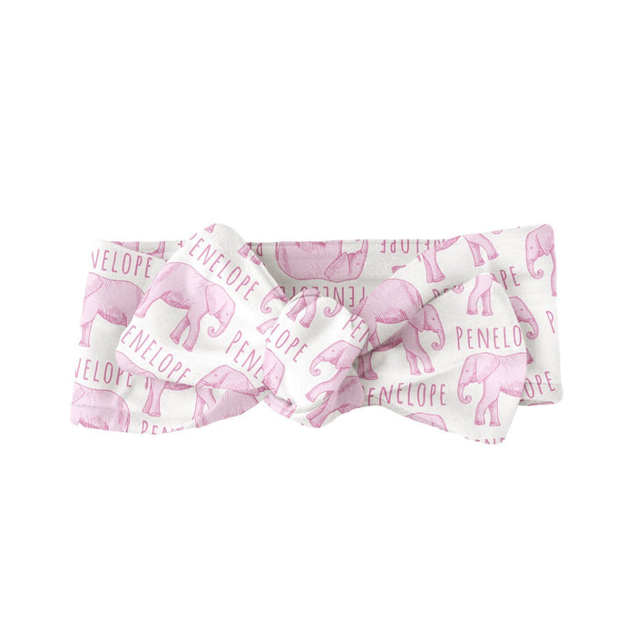 Personalized Bow  - Elephant Pink | Sugar + Maple