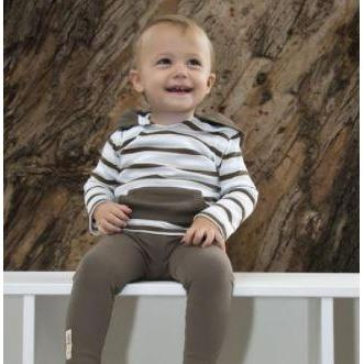 Bark Stripe Lovedbaby Organic Cotton Hoodie - Nature Baby Outfitter