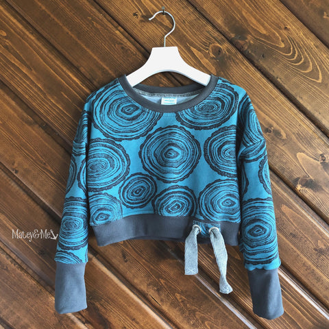 Log Rounds Crop Top Pullover 5 - 6 Years | Matey & Me