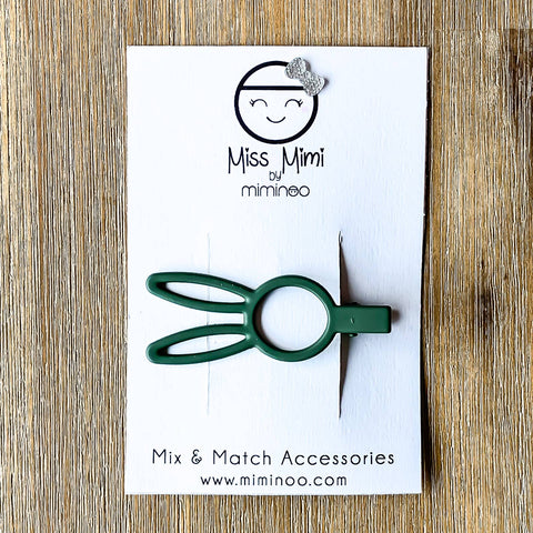 Forest Green Bunny Rabbit Hair Clip | Miss Mimi by Miminoo