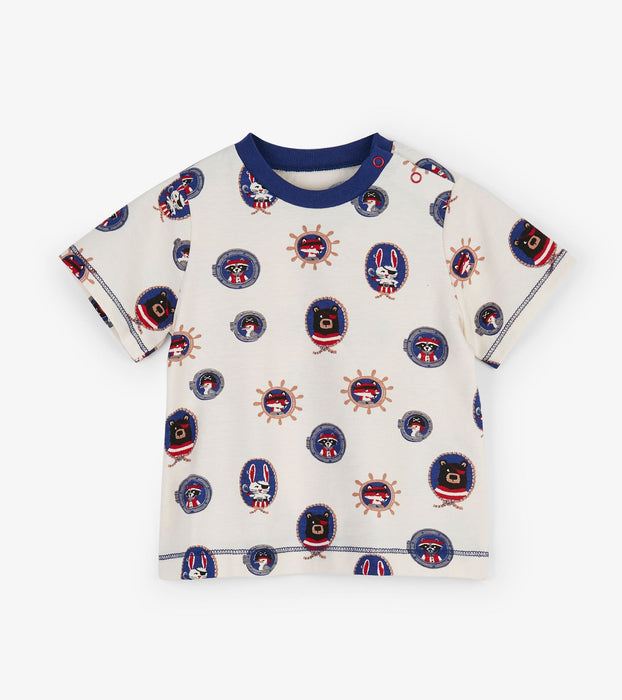 Pirate Portraits Baby Tee | Hatley