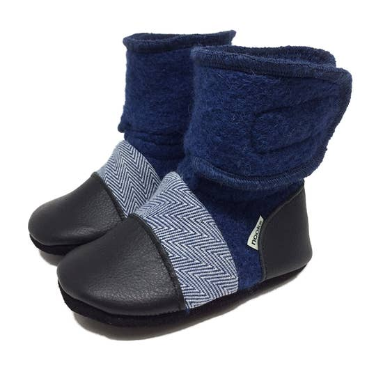 Deep Sea Felted Wool Booties | Nooks Design