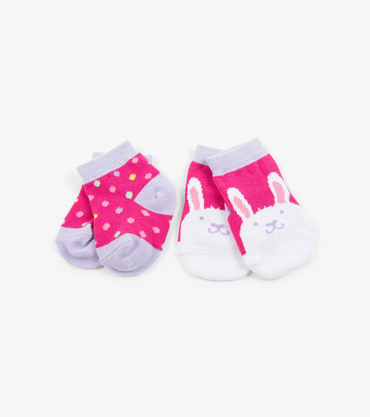 Funny Bunny 2-Pack Baby Socks | Little Blue House by Hatley