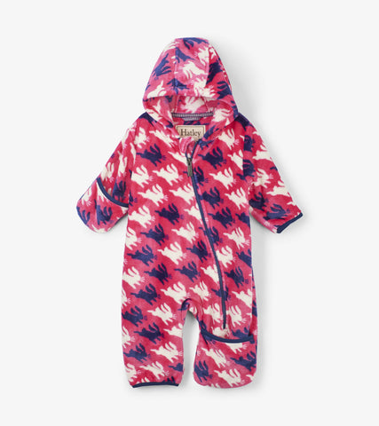 Sweet Bunnies Fuzzy Fleece Bundler | Hatley