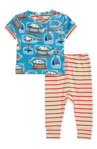 Blue Bottled Ships Organic Cotton Shorts Pajama | Hatley