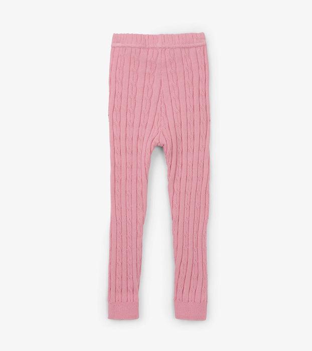 Pink Cable Knit Baby Leggings | Hatley