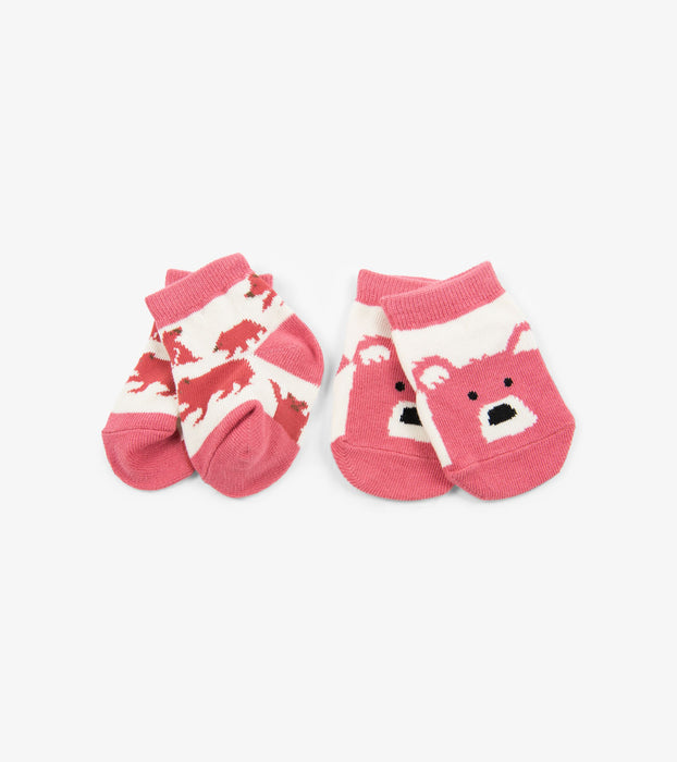 Pink Bears 2-Pack Baby Socks | Little Blue House by Hatley