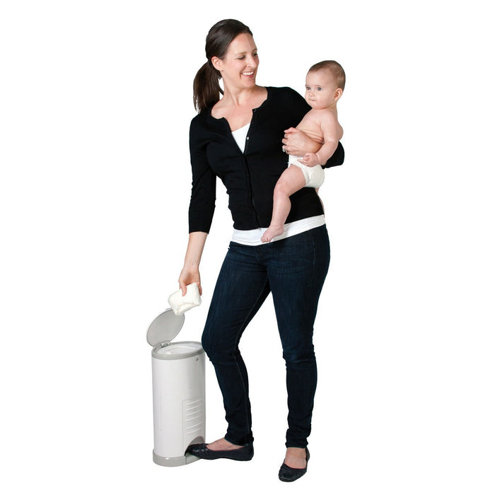 White Dekor Mini Diaper Pail | Dekor