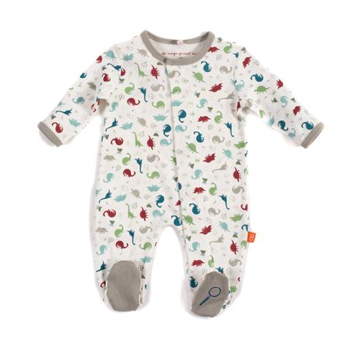 Dino Expedition Organic Cotton Magnetic Footies | Magnetic Me
