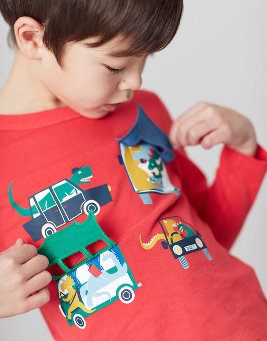 Red Vehicles Chomper Tee | Joules