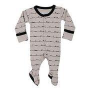 Grey I Am Loved Footed Overall | Lovedbaby - Nature Baby Outfitter