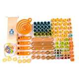 127 Piece Bamboo Builder Marble Run | Fat Brain Toy Co.