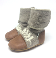Dove Felted Wool Booties | Nooks Design