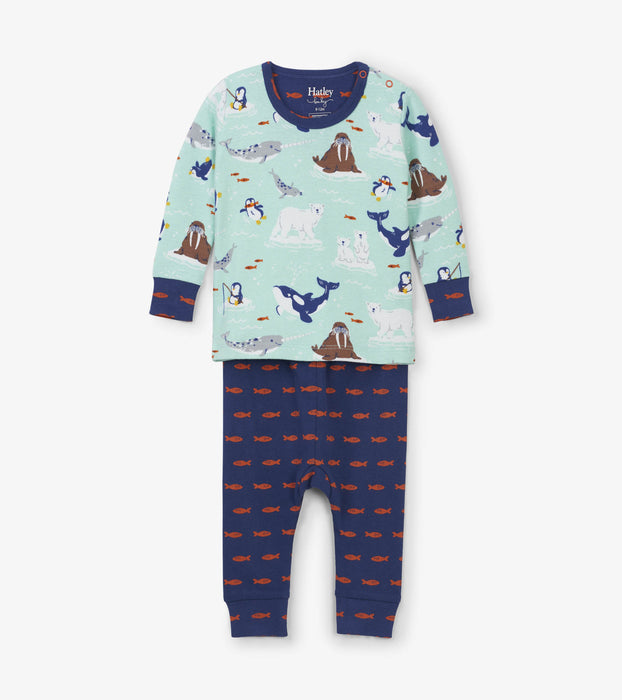 Arctic Friends Organic Cotton Pajamas Set | Hatley