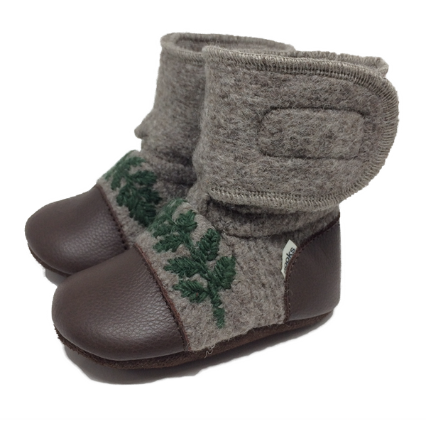 Sparrow Felted Wool Booties | Nooks Design