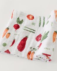 Farmers Market Cotton Swaddle Blanket | Little Unicorn
