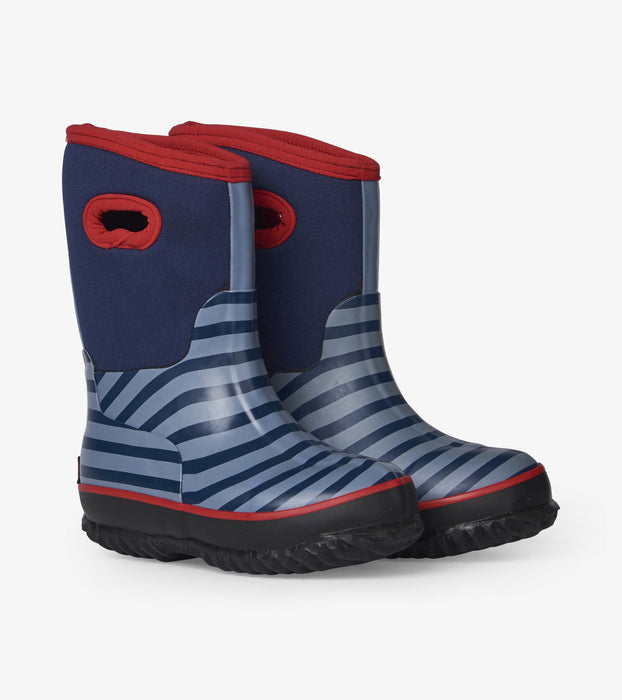 Blue Stripe All Weather Boots | Hatley