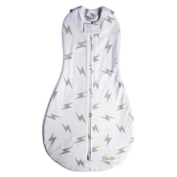 Gray Bolt Grow With Me 3 Swaddle | Woombie