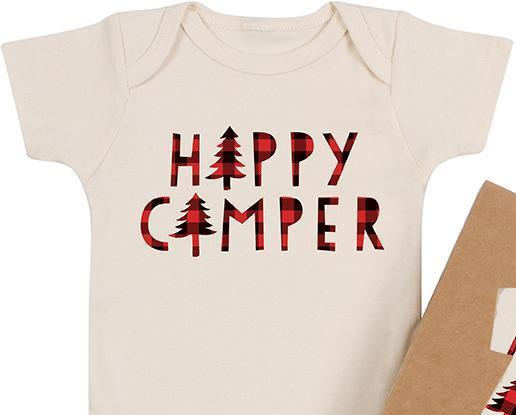 'Happy Camper' Organic Bodysuit | Morado Designs