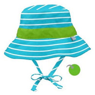 Aqua Stripe Reversible Bucket Sun Hat - Nature Baby Outfitter