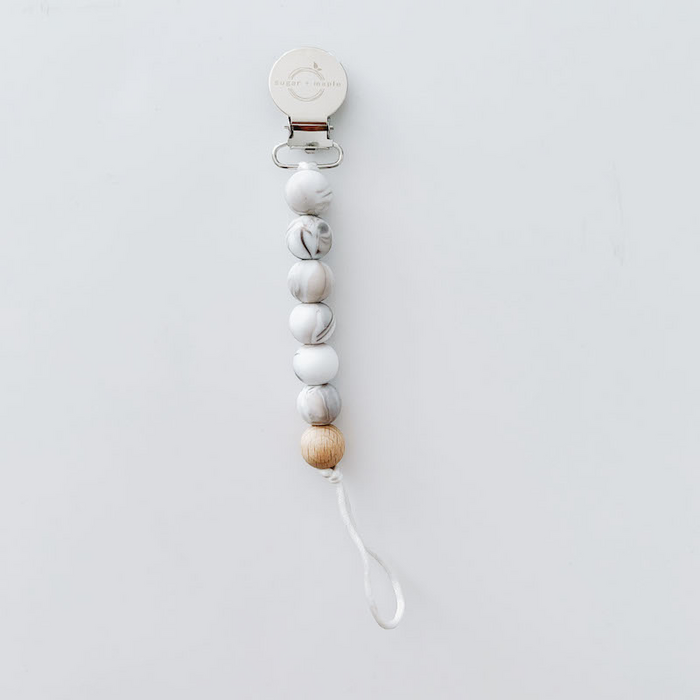 Marble Pacifier Clip | Sugar + Maple