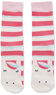 Pink Unicorn Neat Feet Socks | Joules