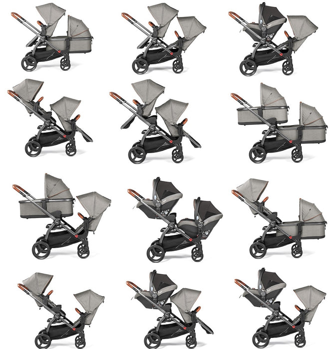 Agio Z4 In-line Double Stroller | Agio by Peg Perego