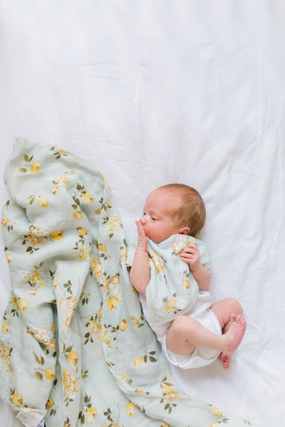 Wild Rose Bamboo Swaddle Blanket | loulou lollipop