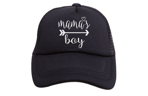 Mama's Boy Tiny Trucker Hat | Black - Nature Baby Outfitter