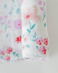 Morning Glory Cotton Swaddle Blanket | Little Unicorn