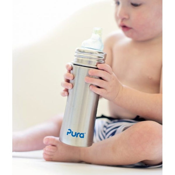 Pura Kiki® 11oz Toddler Bottle with Sleeve - Nature Baby Outfitter