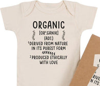 'Organic' Definition Organic Bodysuit | Morado Designs